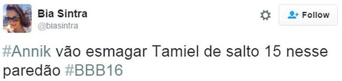 post paredão ana paula x munik x tamiel bbb16 (Foto: web)