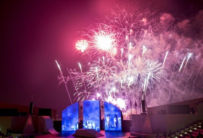 Mundial de Doha 2015 foi oficialmente aberto em cerimônia realizada na Vila Cultural de Katara (Foto: Daniel Zappe/CPB)