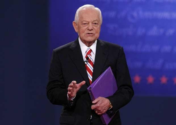 O moderador Bob Schieffer (Foto: AP)