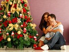 Sidney Sampaio e Carol Nakamura mostram sua árvore de Natal para o EGO