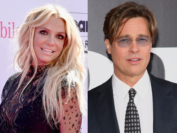 Britney Spears e Brad Pitt (Foto: Getty Images)