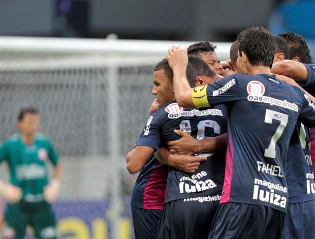 comemoração gol Bahia x Náutico (Foto: Eduardo Martins / Futura Press)
