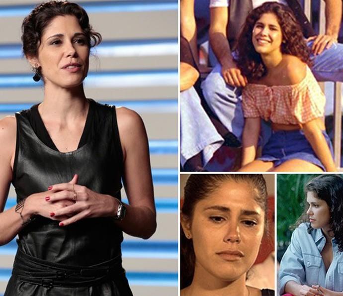 Juliana Martins nos tempos de Malhação, entre 1995 e 1996 (direita) e, em Geração Brasil, de 2014, como a Jojô (Foto:  Felipe Monteiro / Cedoc / TV Globo)