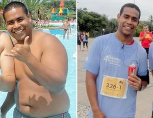 Minha História Luiz Felipe Parente antes e depois Eu Atleta (Foto: Divulgação / Arquivo Pessoal)