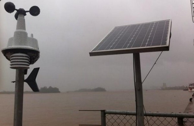 Prefeitura monitora ventos e o nível do Guaíba (Foto: Divulgação/Metroclima/PMPA)
