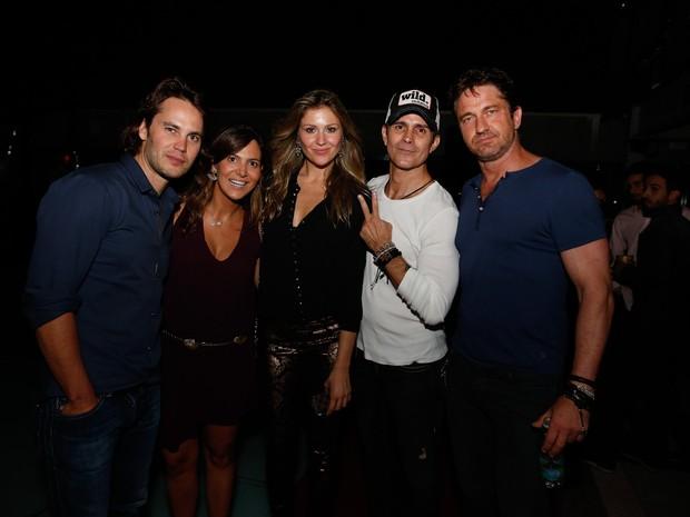 Taylor Kitsch e Gerard Butler com Ellen Jabour e mais em festa na Zona Sul do Rio (Foto: Felipe Panfili/ Ag. News)