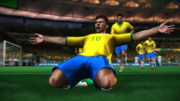 Neymar comemora a chegada do demo de Copa do Mundo Fifa Brasil 2014 no PlayStation 3 (Foto: Reprodução) (Foto: Neymar comemora a chegada do demo de Copa do Mundo Fifa Brasil 2014 no PlayStation 3 (Foto: Reprodução))