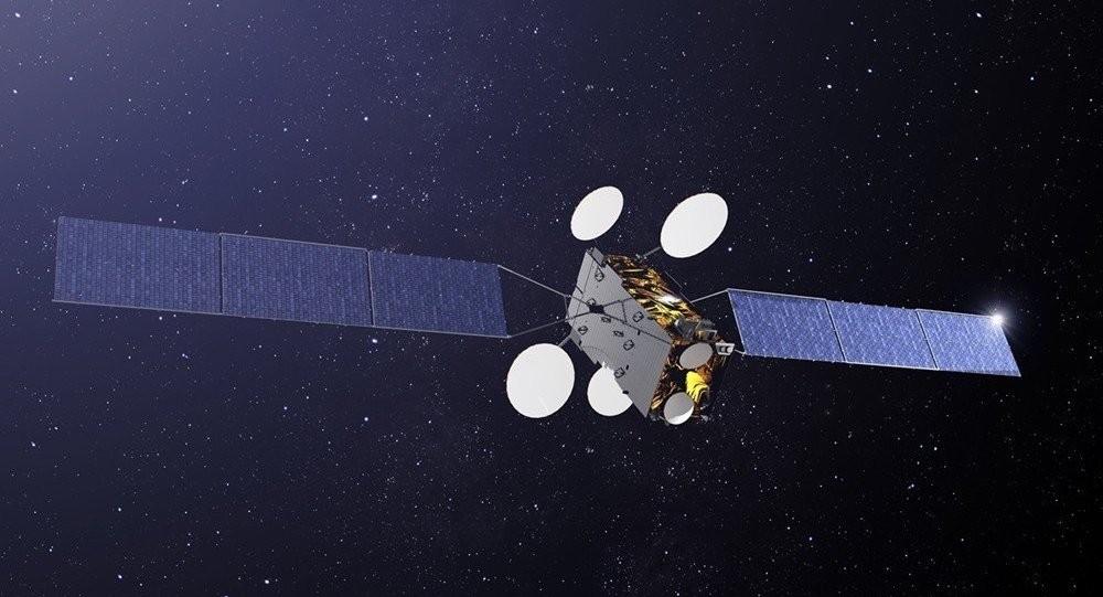 Concepção artística mostra o SGDC em operação no espaço (Foto: Divulgação/AEB)