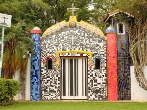 Capela do Mosaico é um dos pontos onde moradores contam histórias do local (Foto: Divulgação/Museu da Mantiqueira)