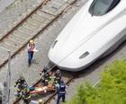 Homem se mata no trem-bala  no Japão (Kyodo News / via AP Photo)