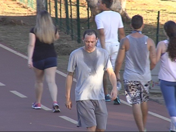 Temperaturas têm chegado a mais de 30° C durante a noite (Foto: Reprodução/TV TEM)