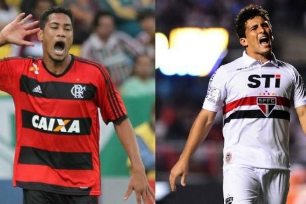 São Paulo e Flamengo (Foto: Reprodução/RBS TV)