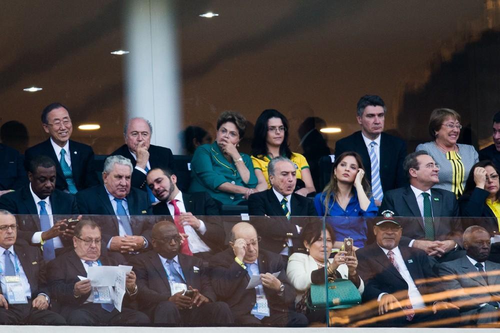Cerimonia de abertura da Copa do Mundo na Arena Corinthians, em Itaquera (Foto: Danilo Verpa/Folhapress)