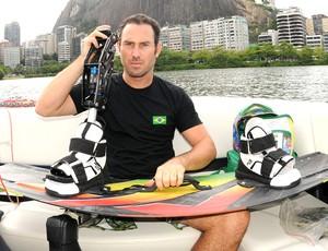 André ,atleta paralímpico que faz wakeboard (Foto: Andre Durão)