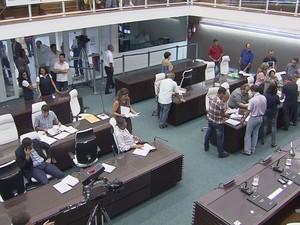 O projeto fez parte da última sessão do ano na câmara (Foto: Reprodução/TV Tribuna)
