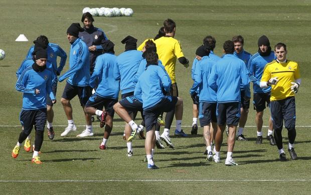 jogadores real madrid treino (Foto: Agência EFE)