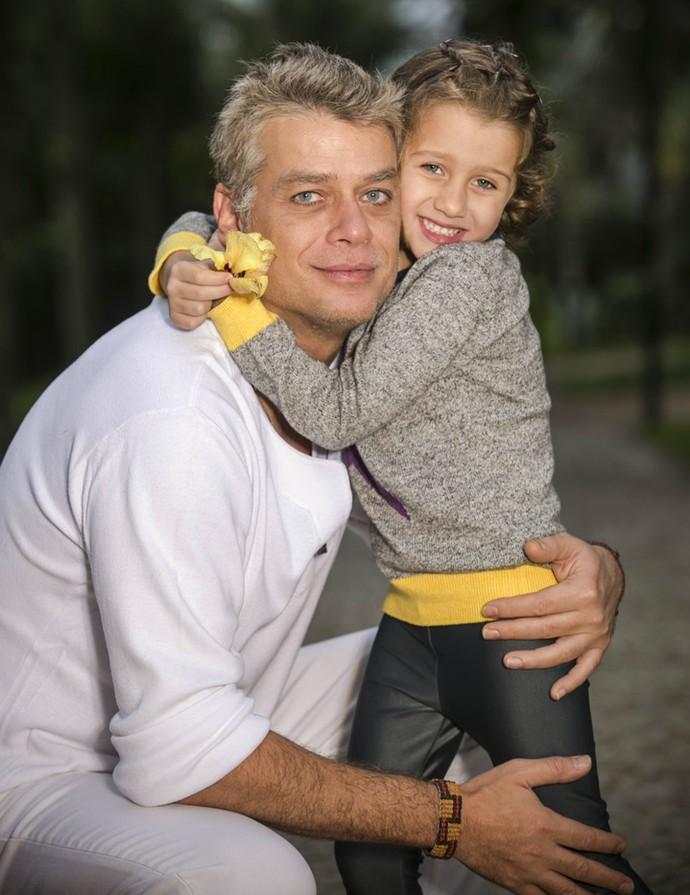 Como pai, Fábio diz que procura não estabelecer uma hieraquia (Foto: Raphael Dias/Gshow)