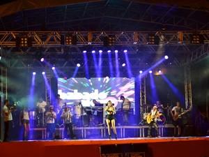 Show da banda Babado Novo reuniu cerca de três mil pessoas na micareta em Xambioá (Foto: Marcelo Prado/Divulgação)