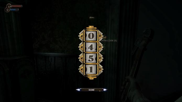 Número 451 é recorrente para abrir portas em BioShock (Foto: Reprodução/YouTube)