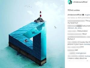 Arte foi compartilhada pelo cantor Chris Brown (Foto: Reprodução/Instagram)