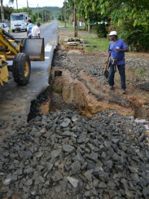 Chuva prejudicou ruas de Criciúma (Foto: Lucas Sabino/Divulgação)