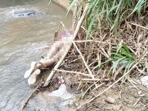 Corpo foi encontrado no rio Sorocaba nesta quinta-feira (Foto: Arquivo pessoal)