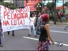 Grupo protesta contra aumento da tarifa de ônibus na Grande Goiânia