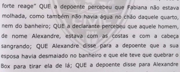 Depoimento de testemunha do caso Fabiana Caggiano (Foto: Anderson Barbosa/G1)