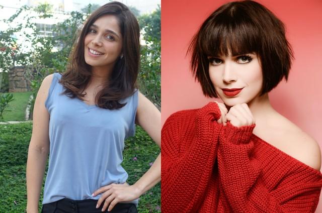 Sabrina Petraglia antes e depois (Foto: TV Globo / Pino Gomes)