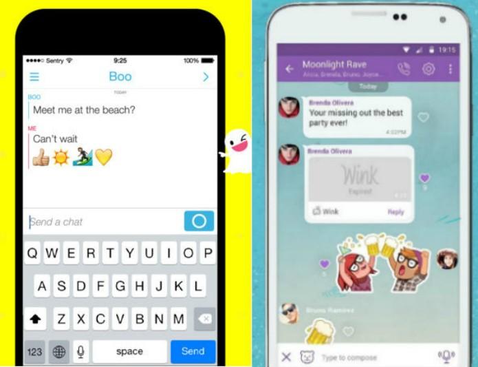 Viber Wink e Snapchat usam temporizador de fotos e vídeos para que imagens se autodestruam após segundos estipulados no app (Foto: Reprodução/Luciana Vieira)