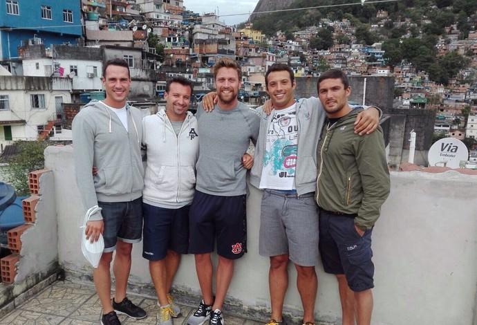 Raia Rápida Nadadores Itália Rocinha (Foto: Arquivo Pessoal)