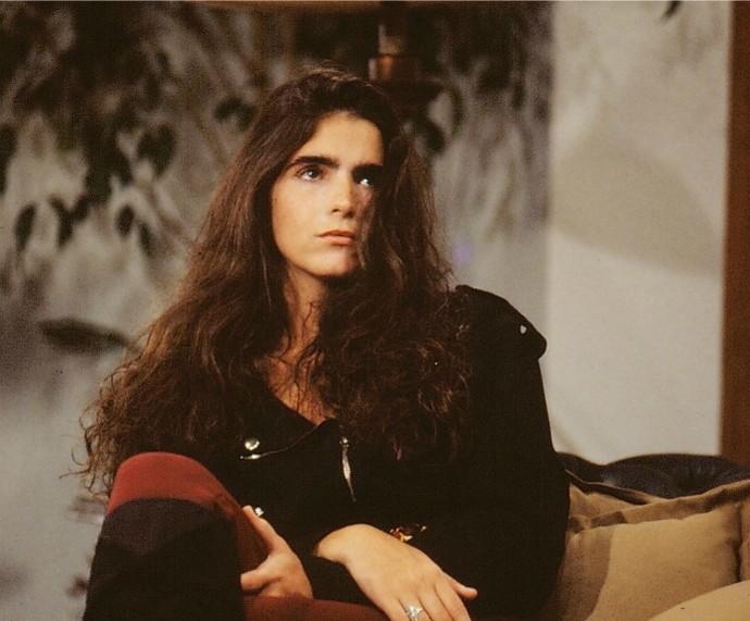 Na pele de Duda, em Top Model (1989) (Foto: Cdoc/TV Globo)