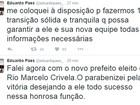 Eduardo Paes parabeniza Marcelo Crivella pela vitória sobre Freixo