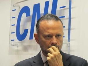 Luciano Coutinho participou de evento da CNI em São Paulo nesta sexta-feira (2) (Foto: Darlan Alvarenga/G1)