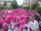 'Caminhada Outubro Rosa' alerta para prevenção do câncer em Três Rios, RJ