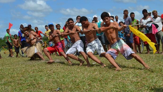 Jogos Indígenas da Paraíba é aberto no Litoral Norte do Estado (Foto: Larissa Keren / GloboEsporte.com/pb)