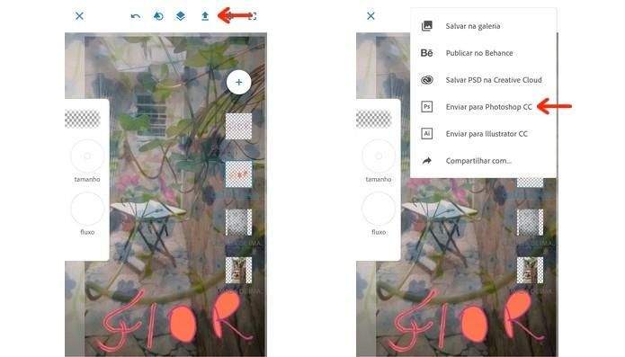 Envio de desenho com camadas do Photoshop Sketch para o Photoshop CC (Foto: Reprodução/Raquel Freire)