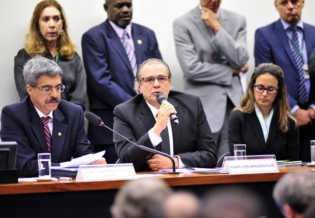 O ex-gerente da Petrobras Pedro José Barusco Filho participa da CPI da Petrobras da Câmara dos Deputados nesta terça-feira (10) (Foto: Zeca Ribeiro / Câmara dos Deputados)