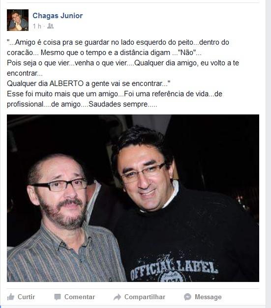 Chagas Junior Alberto Simões (Foto: Reprodução/Facebook)
