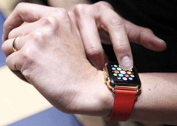 Apple Watch, o relógio inteligente da dona do iPhone. (Foto: Robert Galbraith/Reuters)