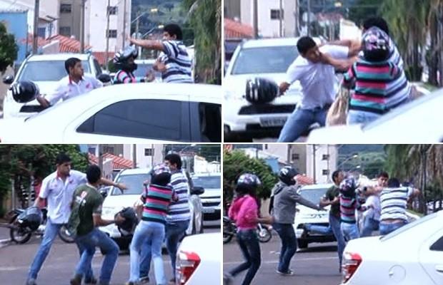 Resultado de imagem para briga de motoristas na rua