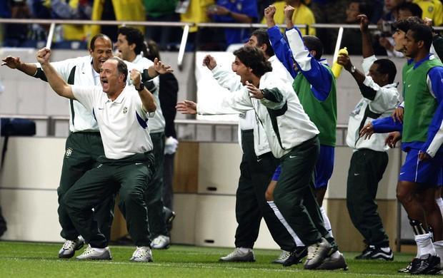 luiz felipe scolari felipão brasil copa do mundo 2002 (Foto: Agência Getty Images)