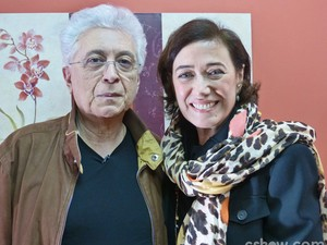Lilia Cabral e Aguinaldo Silva (Foto: Mais Você/ TV Globo)