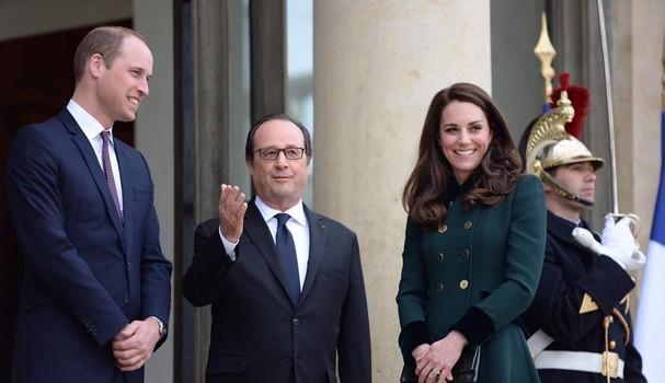 Kate e William são recebidos em Paris pelo presidente francês (Foto: Reprodução Instagram)