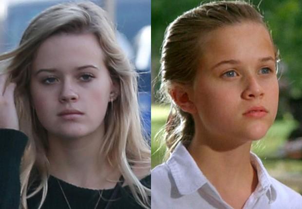 Ava aos 16 anos e Reese Witherspoon em sua estreia nos cinemas, aos 15 (Foto: AKM-GSI e Reprodução)