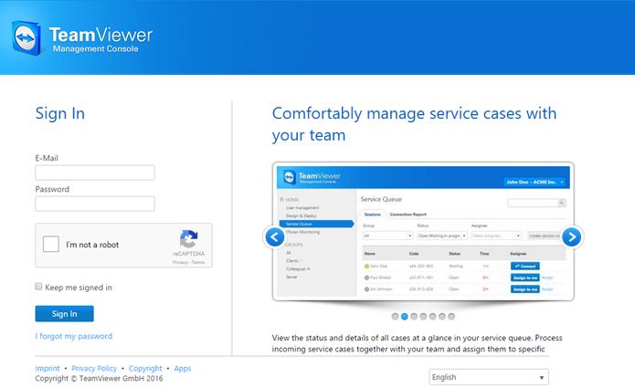 Mudança de senha só pode ser feita com o login do usuário (Foto: Reprodução/TeamViewer)
