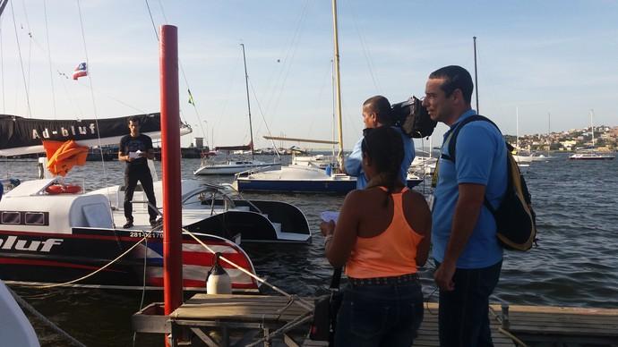 Bastidores Aprovado Ribeira (Foto: TV Bahia)
