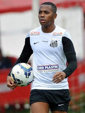 Santos Robinho treino (Foto: Ivan Storti / Divulgação Santos FC)