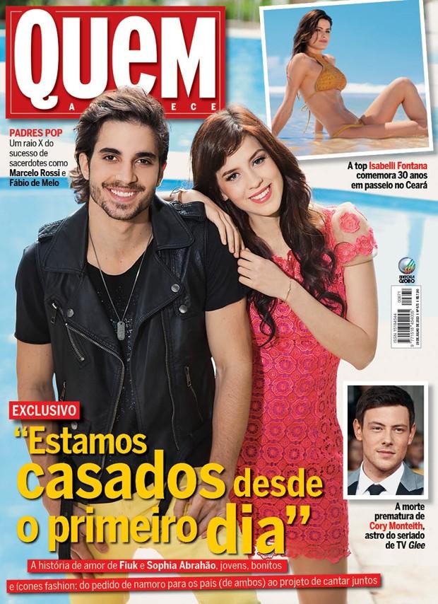 Capa da edição da revista QUEM que chega às bancas nesta quarta-feira (17) (Foto: Marcelo Côrrea/Ed. Globo)
