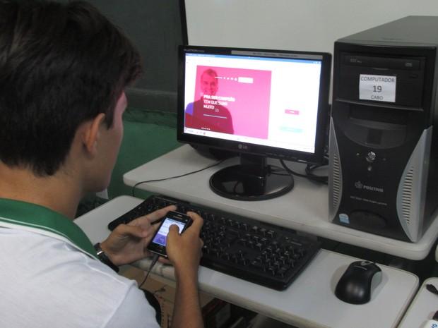 Turmas usam a plataforma para tornar o estudo mais divertido (Foto: Moiséis Rodrigues/Arquivo pessoal)